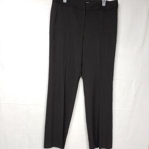 Ann Taylor Margo Black Pin Striped Trouser Size 12